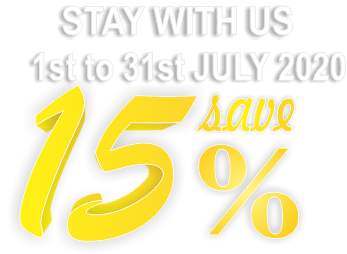 15% discount for stay in July